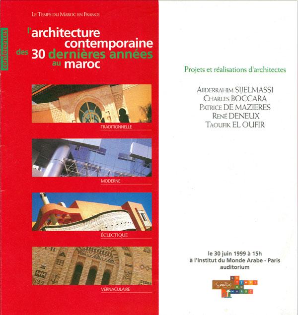 Conférence IMA 30-06-99 Paris