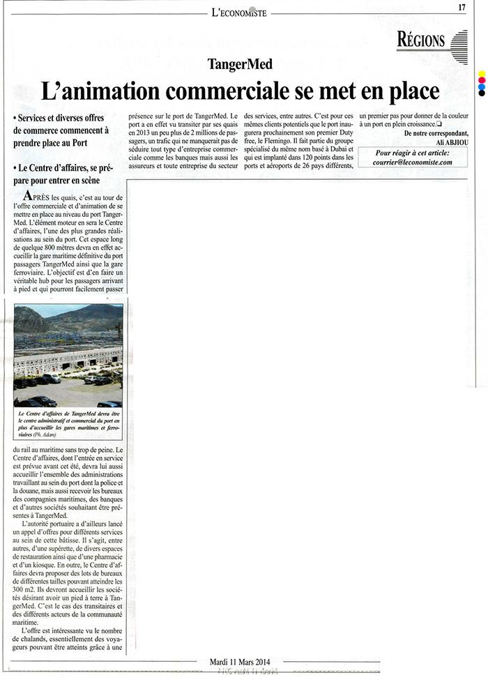 L'Economiste P17 11-03-2014