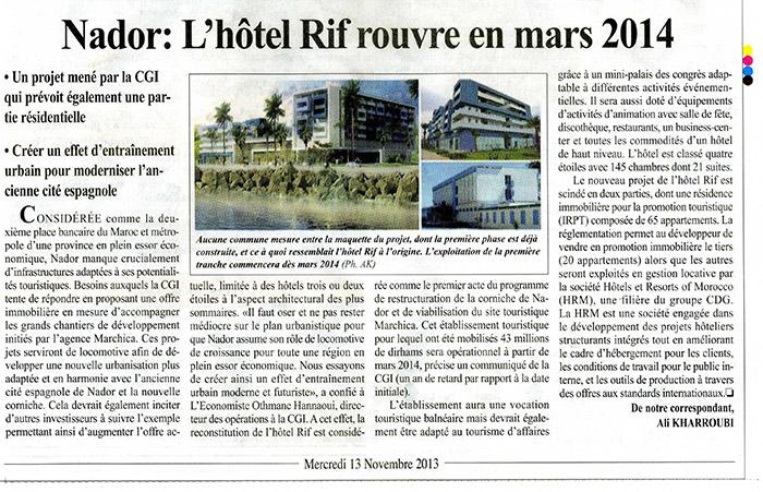 L'économiste 13-11-2013