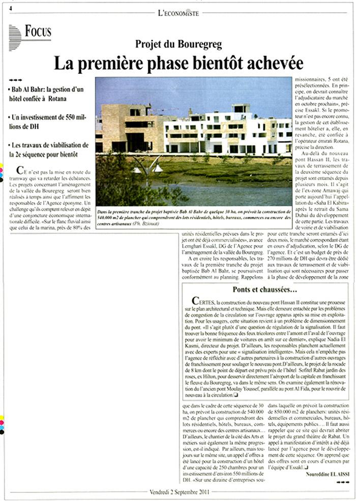 L'Economiste 02-09- 2011