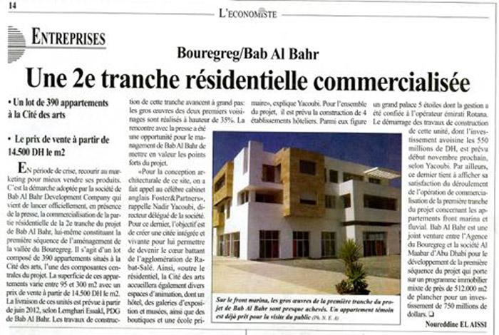 L'Economiste P14 19-09-2011