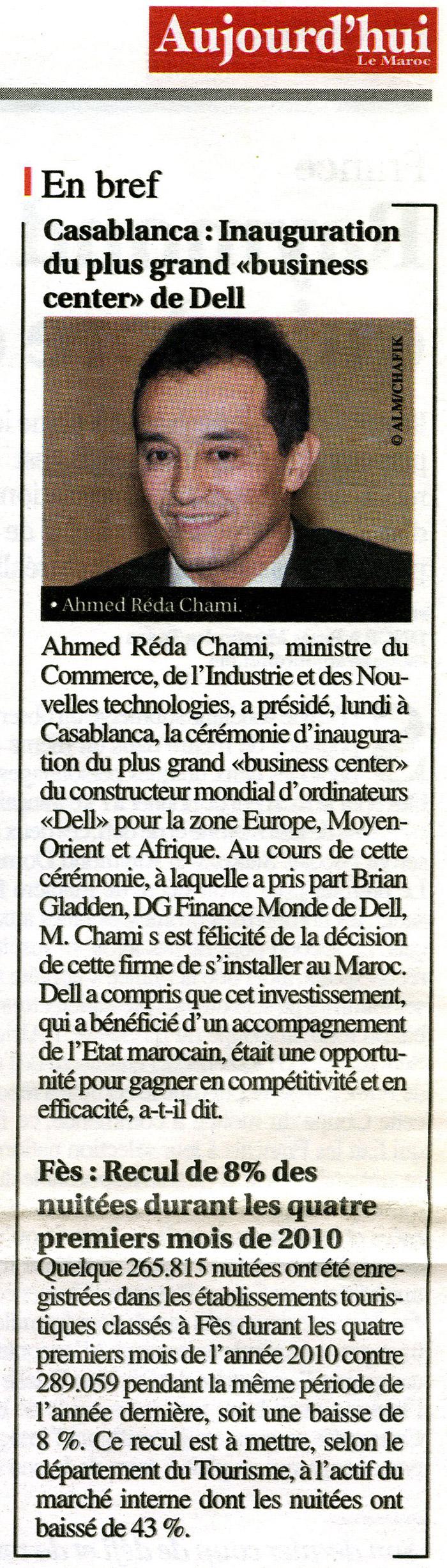 Aujourh'ui Le Maroc 09-06-2010